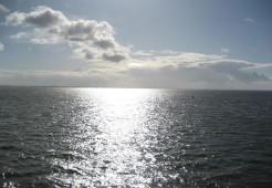 Meer mit Sonnenschein